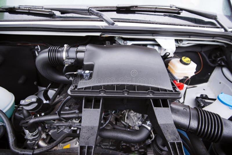 协定和小货物搬运车强有力的柴油引擎  免版税库存图片