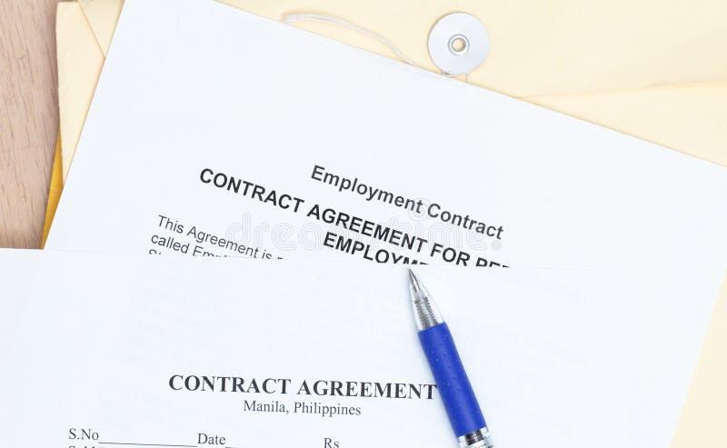 协议合同 免版税库存图片