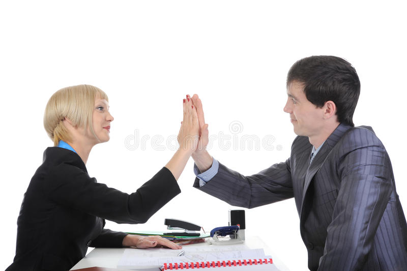 协议商业来合作伙伴 库存图片