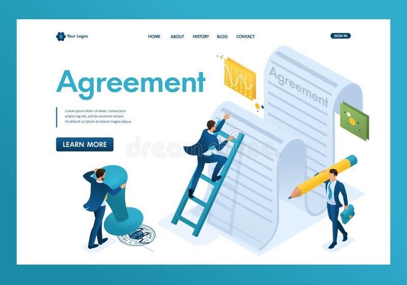 协议的文本的等量研究由公司和签署的雇员的合同 r 皇族释放例证
