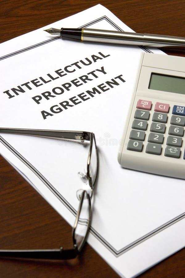 协议知识产权 免版税库存照片