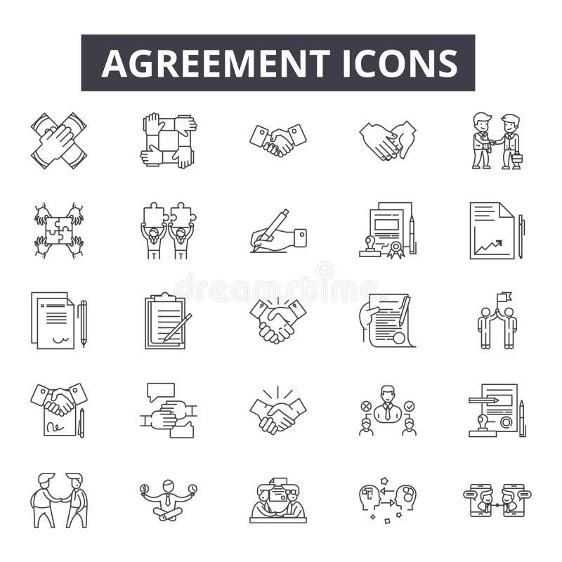 协议线象 编辑可能的冲程标志 概念象:合同、合作、成交、成功,办公室等 协议 皇族释放例证