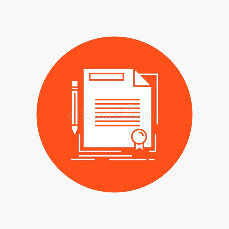 协议,合同,成交,文件,在圈子的纸白色纵的沟纹象 r 皇族释放例证