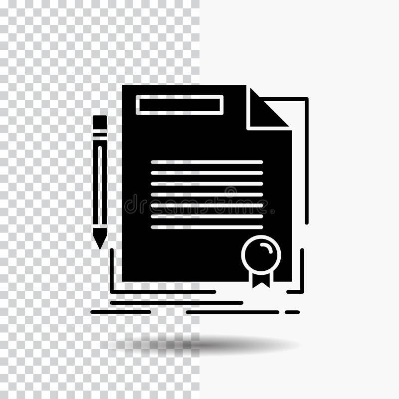 协议,合同,成交,文件,纸在透明背景的纵的沟纹象 ?? 向量例证
