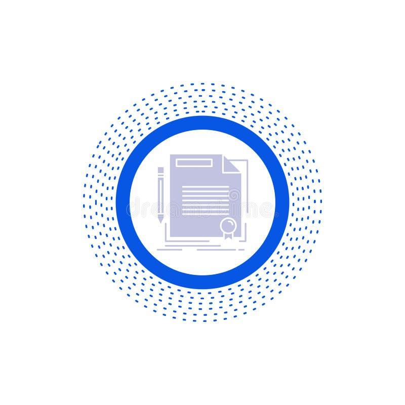 协议,合同,成交,文件,纸纵的沟纹象 r 皇族释放例证