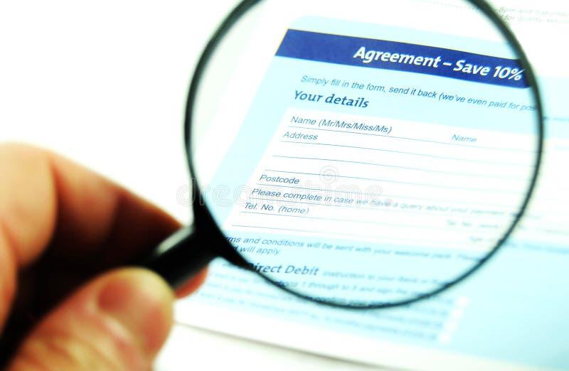协议 免版税库存图片