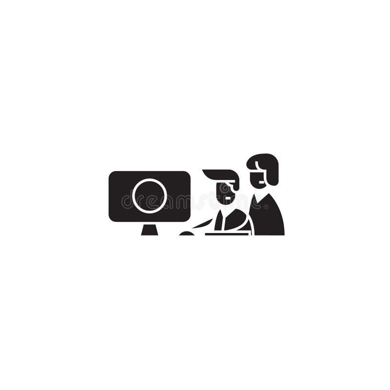 协调工作黑传染媒介概念象 协调工作平的例证,标志 库存例证