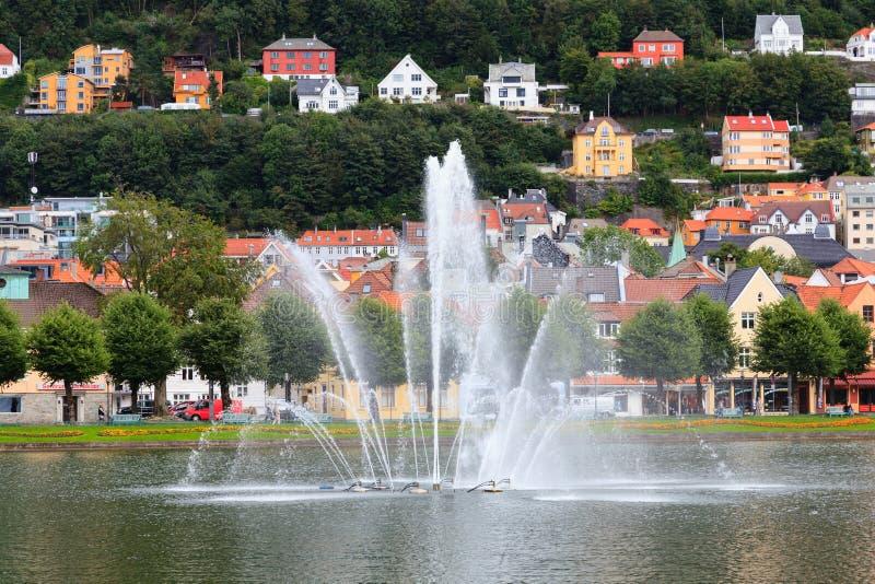 卑尔根喷泉 库存图片
