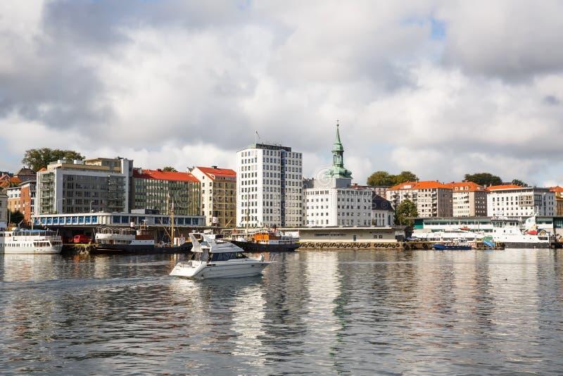 卑尔根市 免版税库存照片