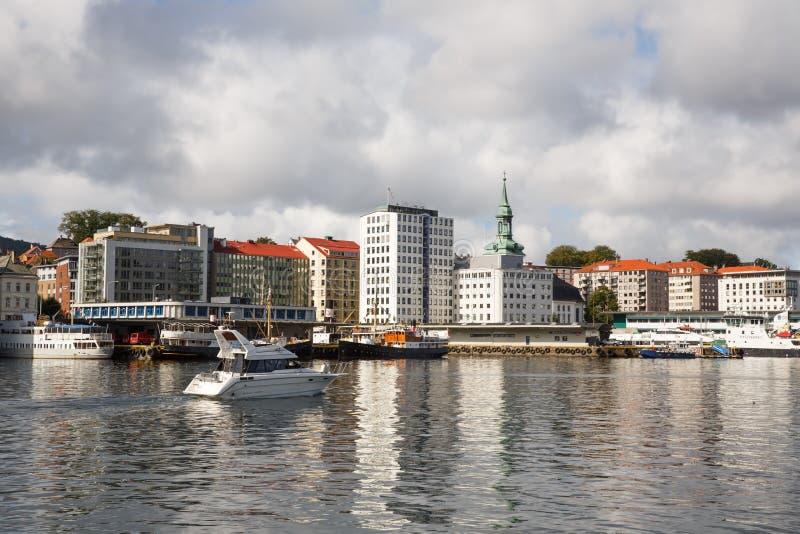 卑尔根市 库存图片