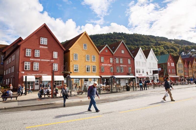 卑尔根市 免版税库存图片