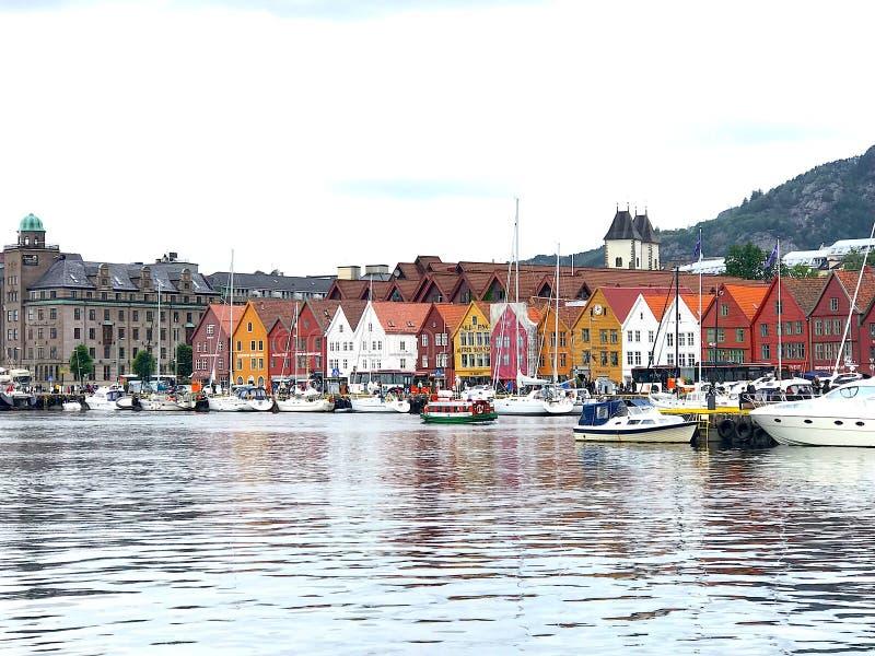 卑尔根港口挪威 免版税图库摄影