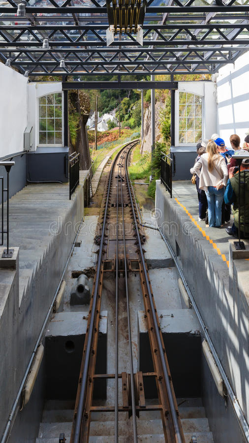 卑尔根缆车驻地 图库摄影