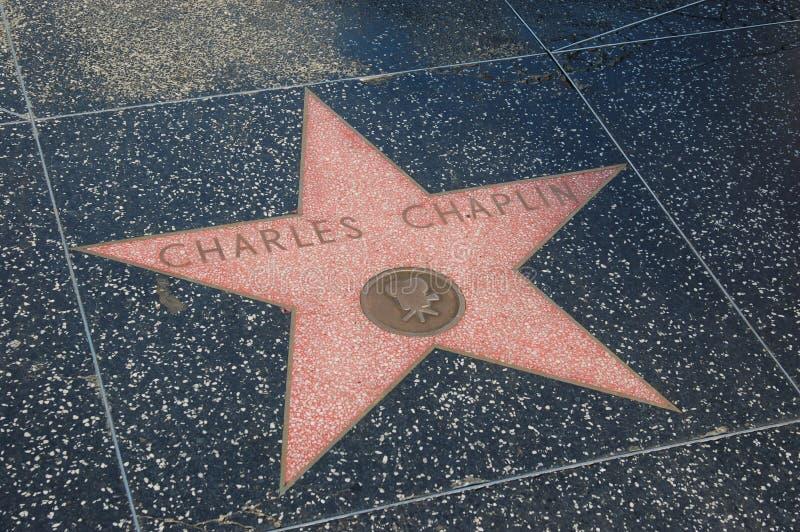 卓别林・查尔斯名望好莱坞结构 免版税库存照片
