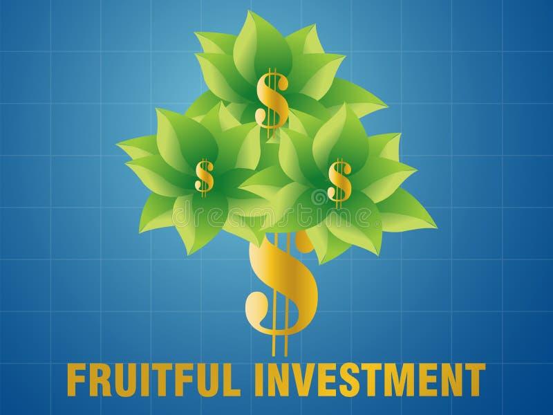 卓有成效的投资 向量例证