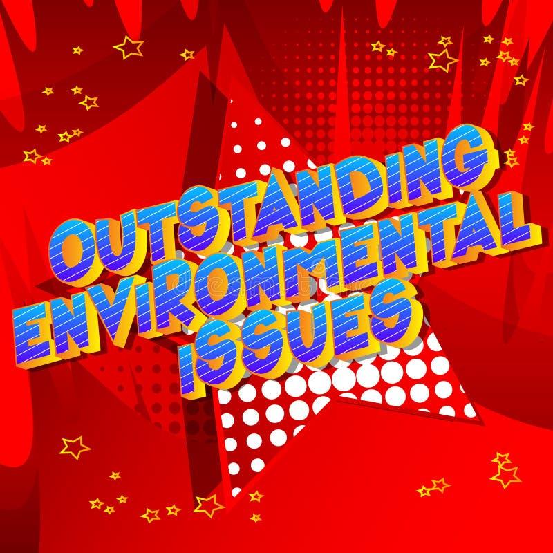 卓著的环境问题-漫画样式词 库存例证
