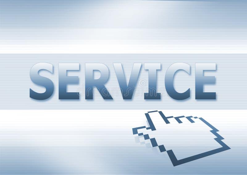 单击服务 向量例证