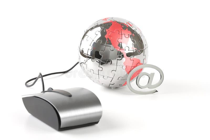 单击通信全球世界 图库摄影