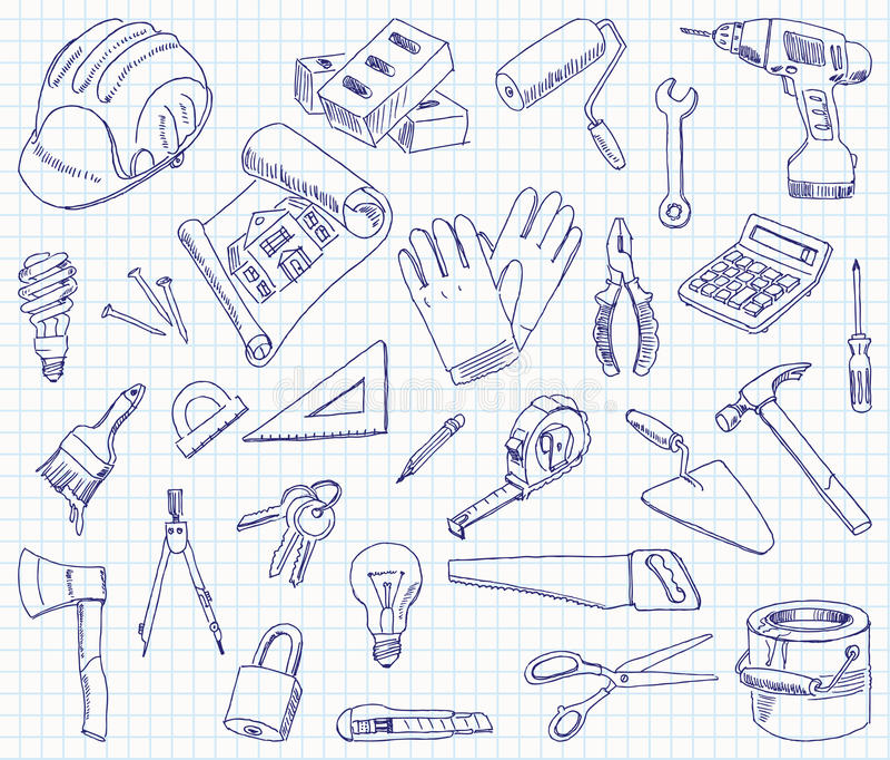 单图建筑材料 向量例证