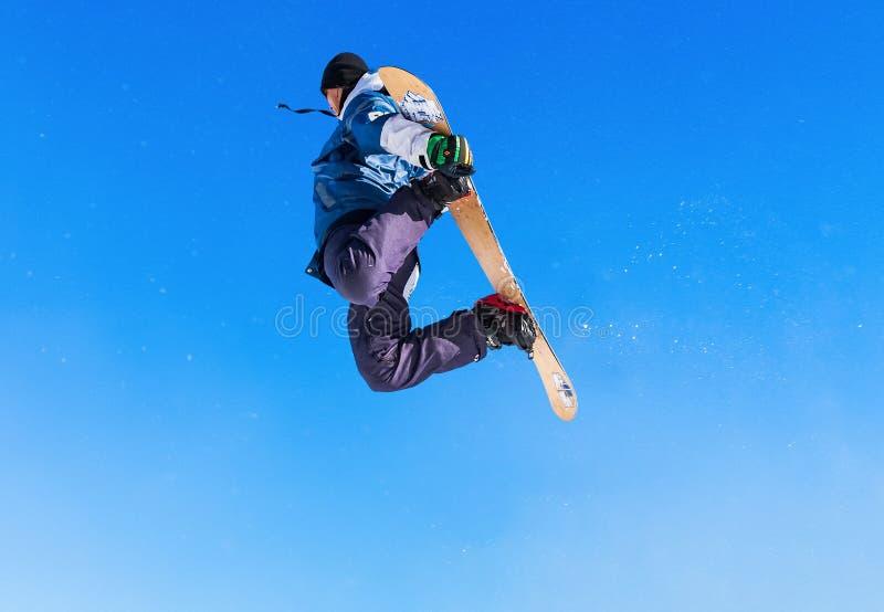 单板滑雪 库存照片