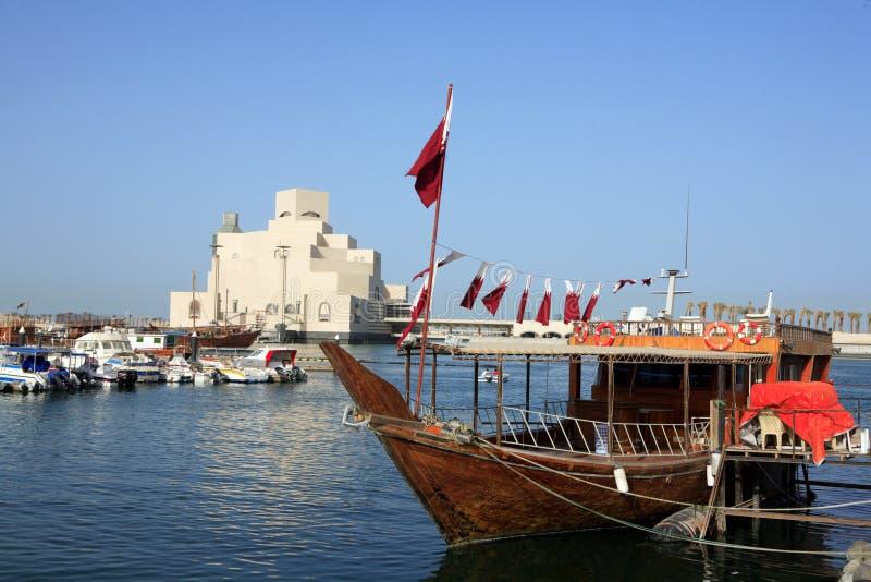 单桅三角帆船穿戴的博物馆 免版税库存图片