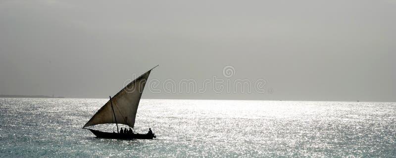 单桅三角帆船 免版税图库摄影