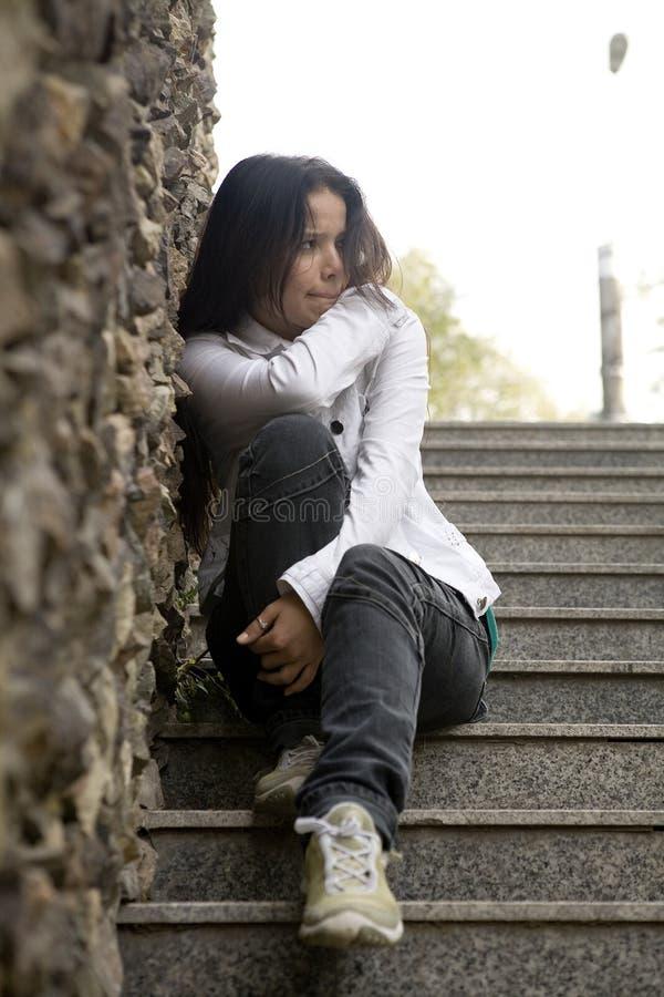 单独女孩问题 免版税库存照片
