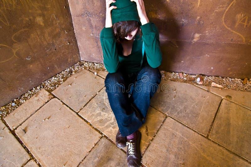 单独妇女年轻人 库存图片