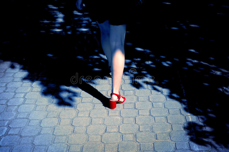 单独性感的妇女 库存图片
