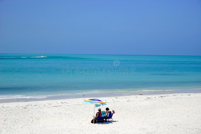 单独海滩 免版税库存图片