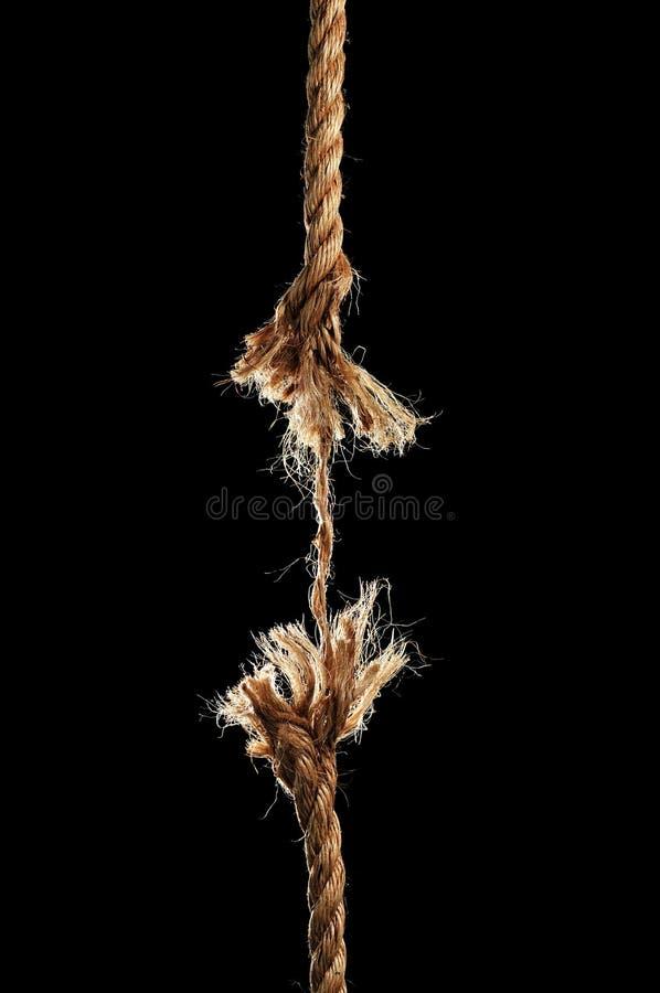 单独的中断的绳索 库存照片