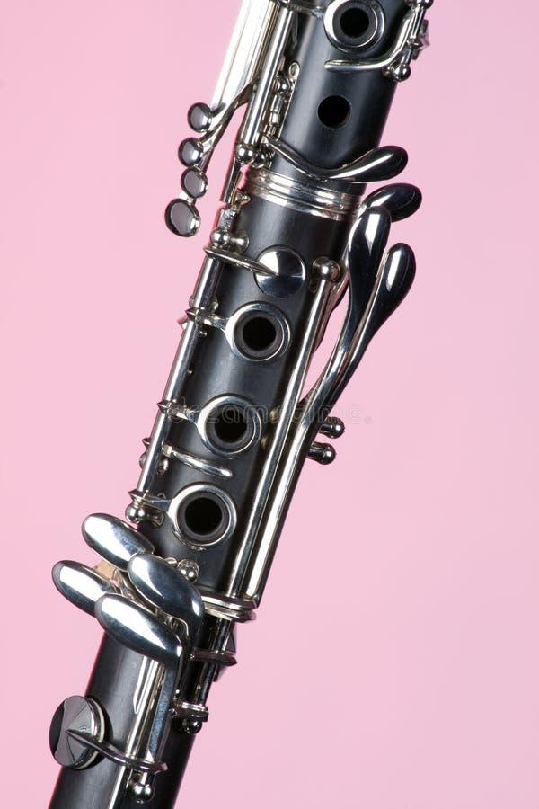 单簧管仪器查出的音乐粉红色 免版税库存照片