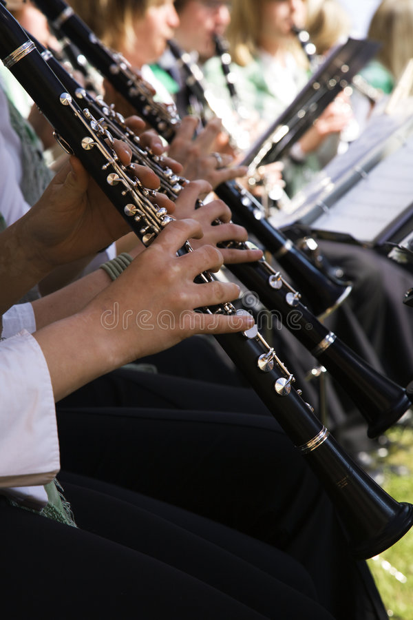 单簧管使用 免版税库存照片