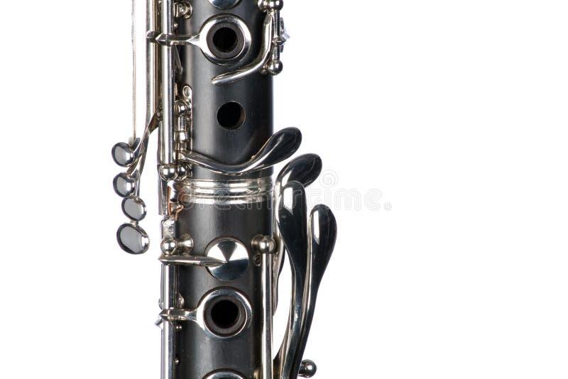 单簧管关闭查出的白色 库存照片