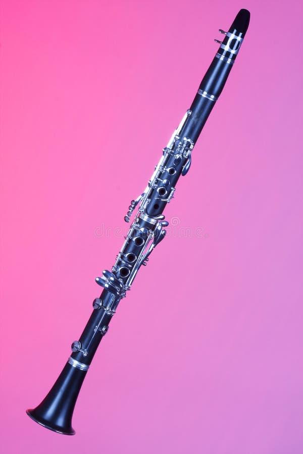 单簧管查出的桃红色女高音 免版税库存图片