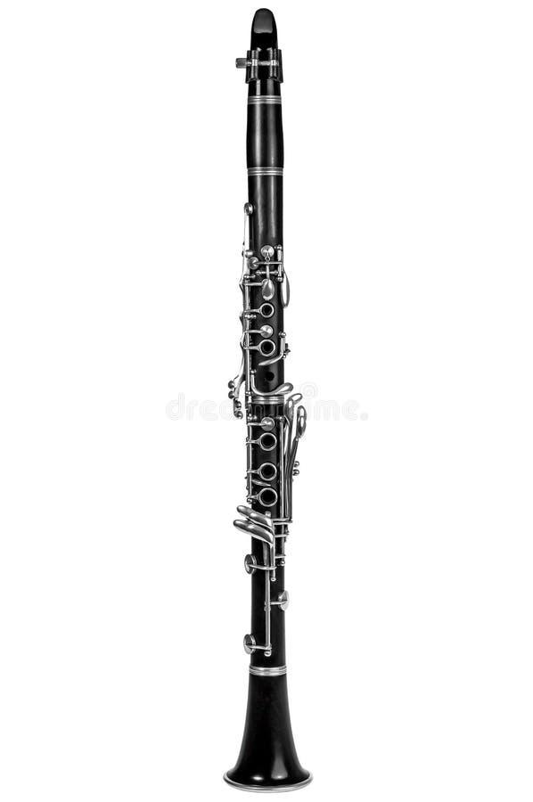 单簧管被隔绝在白色 库存图片
