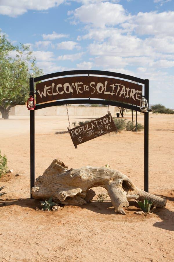 单粒宝石,纳米比亚 免版税库存照片