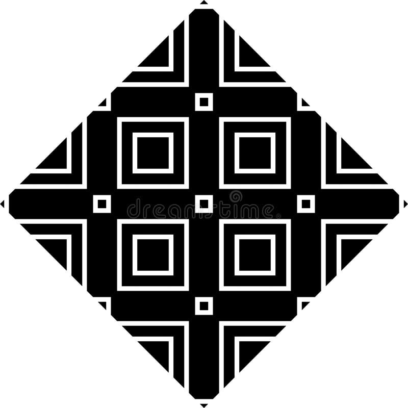 单色传染媒介无缝的repeted样式设计 向量例证