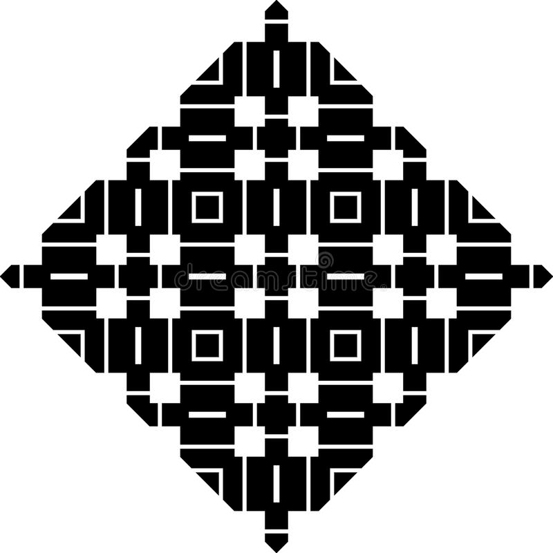 单色传染媒介无缝的repeted样式设计 皇族释放例证
