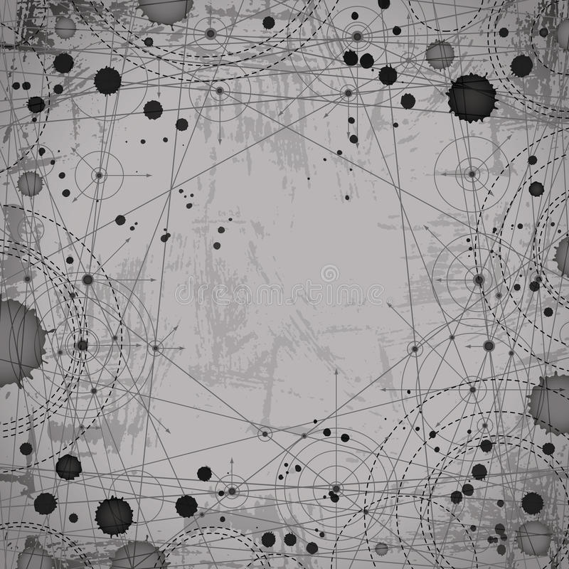 单色几何摘要加点了图画,建筑学PR 向量例证