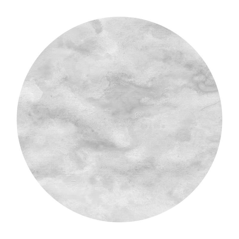 单色手拉的与污点的水彩圆框架背景纹理 库存图片