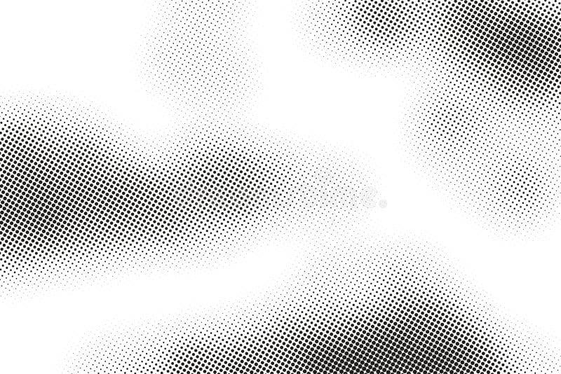 单色打印光栅,抽象传染媒介中间影调背景 小点黑白纹理  皇族释放例证