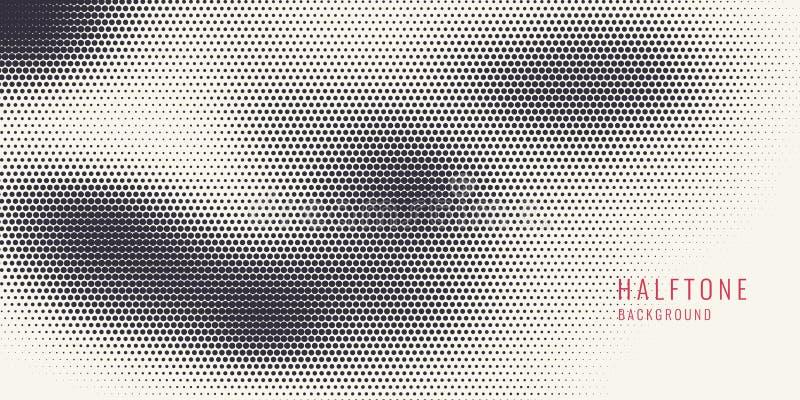 单色打印光栅,抽象传染媒介中间影调背景 皇族释放例证