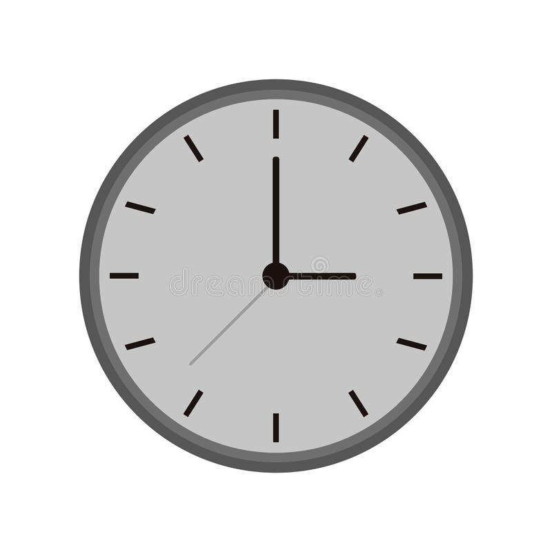 单色时钟时间手表工作象 皇族释放例证