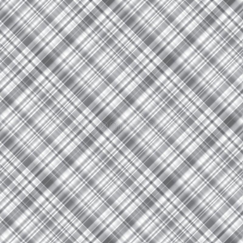 单色灰色无缝的方格的样式格子呢对角线ornam 皇族释放例证