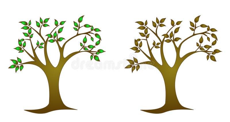 单色结构树 库存照片