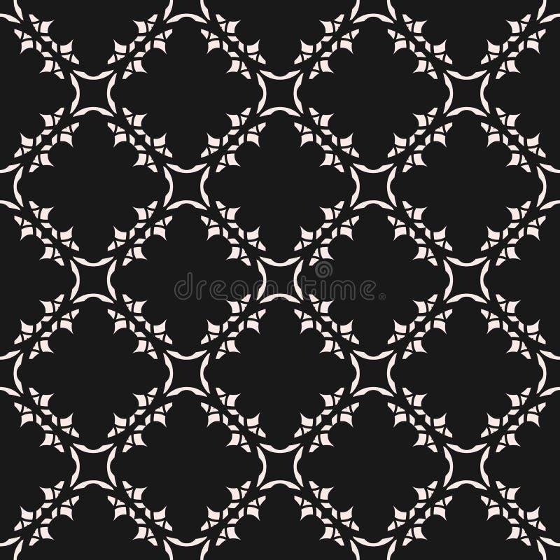单色装饰无缝的样式 传染媒介镶嵌构造 库存例证