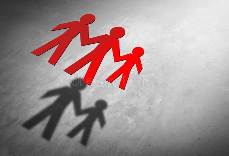 单身父母亲家庭 向量例证