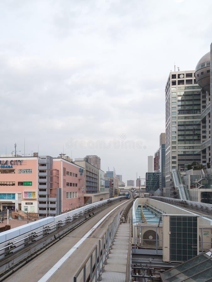 单轨铁路车在东京 库存照片