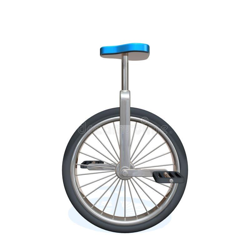 单轮脚踏车 向量例证